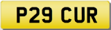 CURTIS P Private Cherished Registration Number Plate  CUR